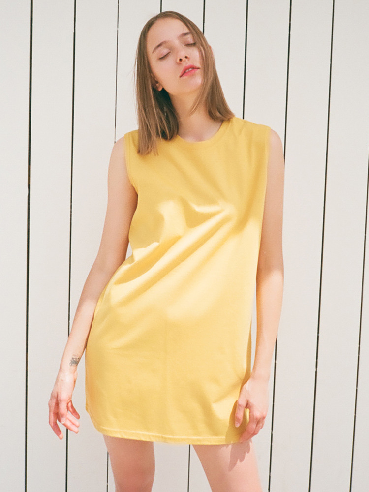 ROUND MINI DRESS_YELLOW