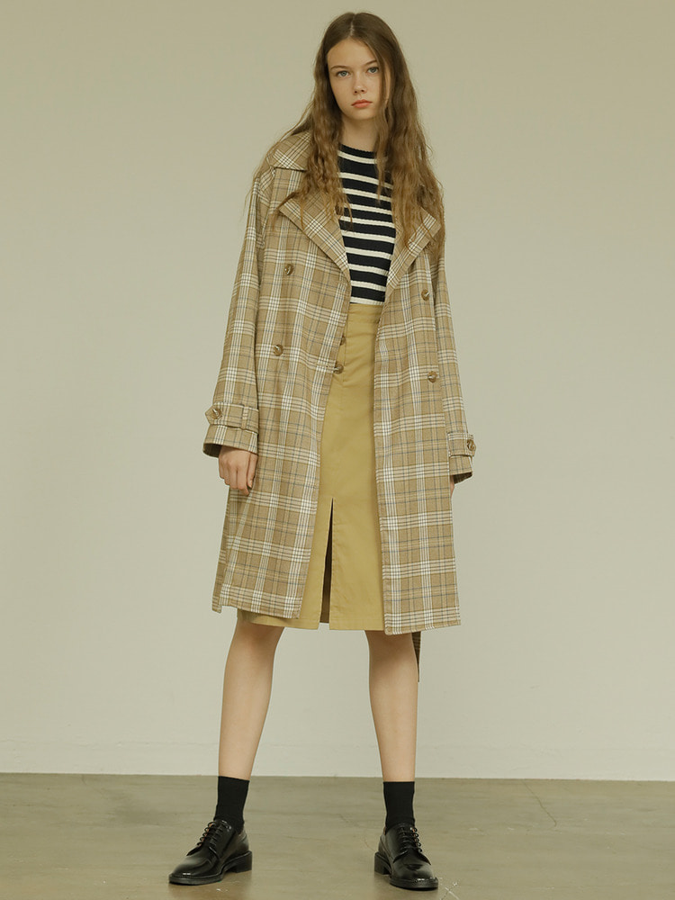 COUCH TRENCH_brown check