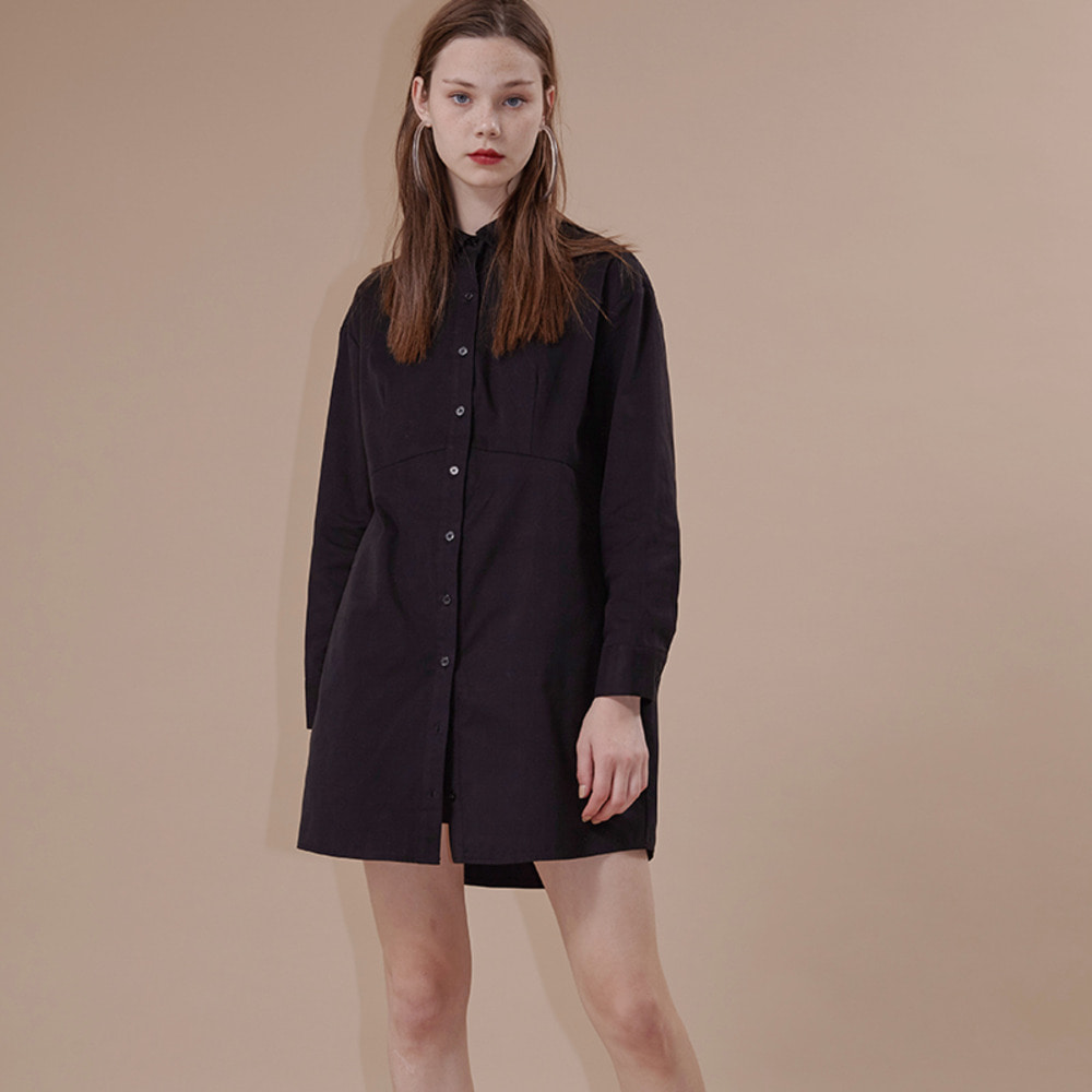 SEATTLE SHIRT DRESS_black