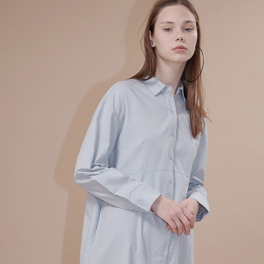 SEATTLE SHIRT DRESS_light blue