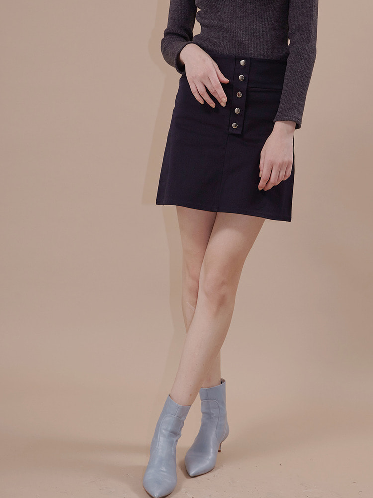 GRAM MINI SKIRT_navy