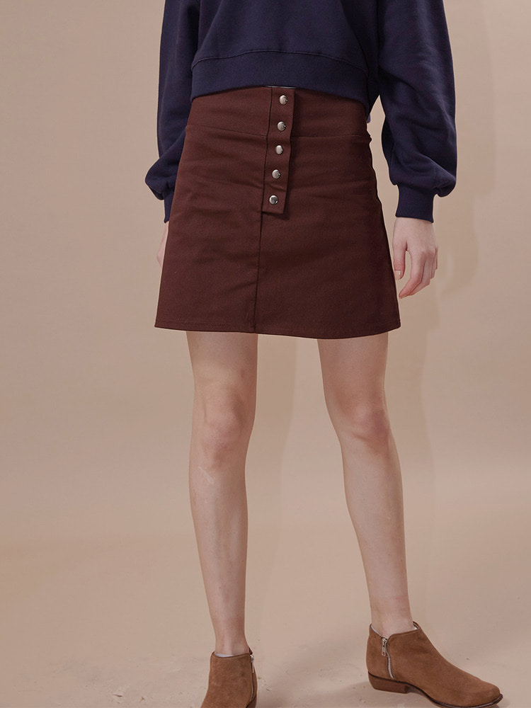 GRAM MINI SKIRT_brown
