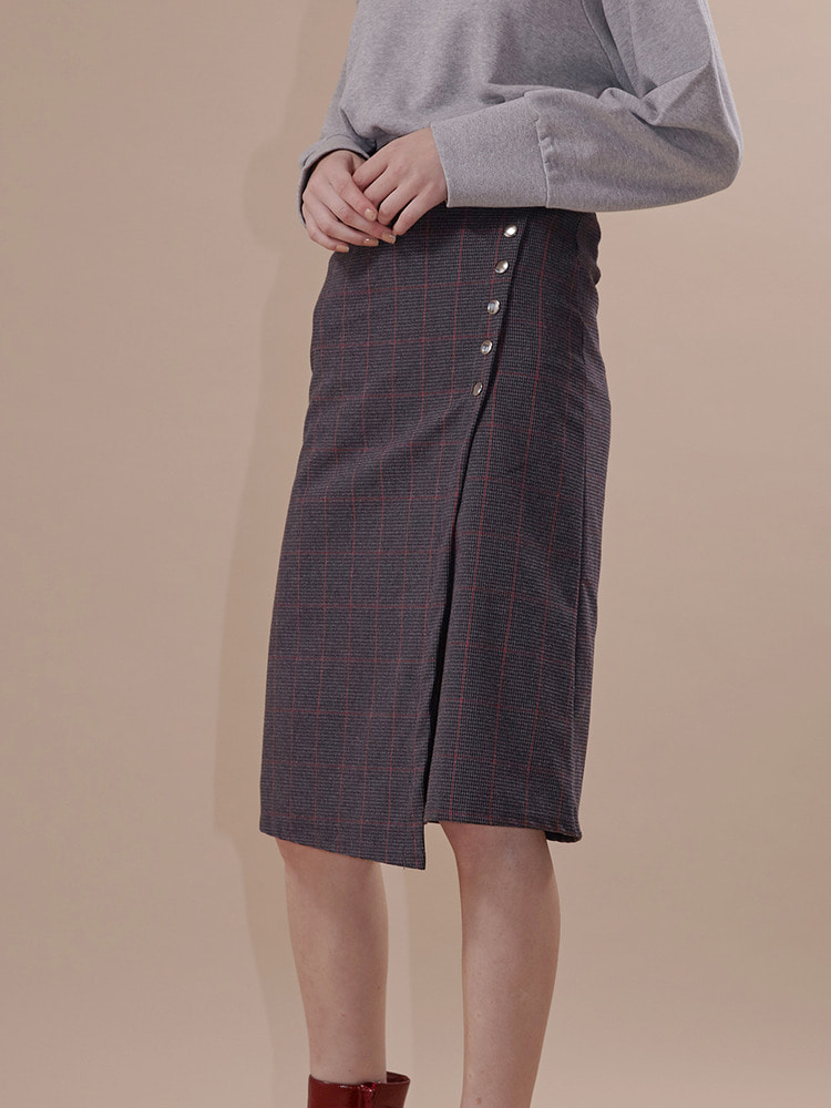 OPENING WRAP SKIRT_charcoal