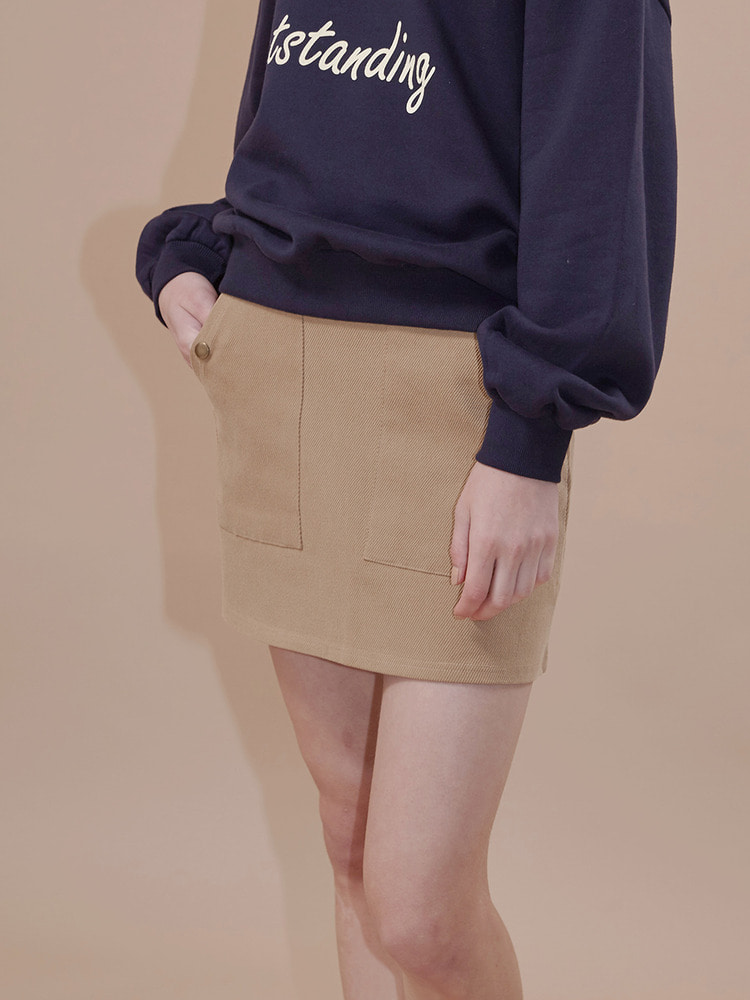 GATE MINI SKIRT_beige