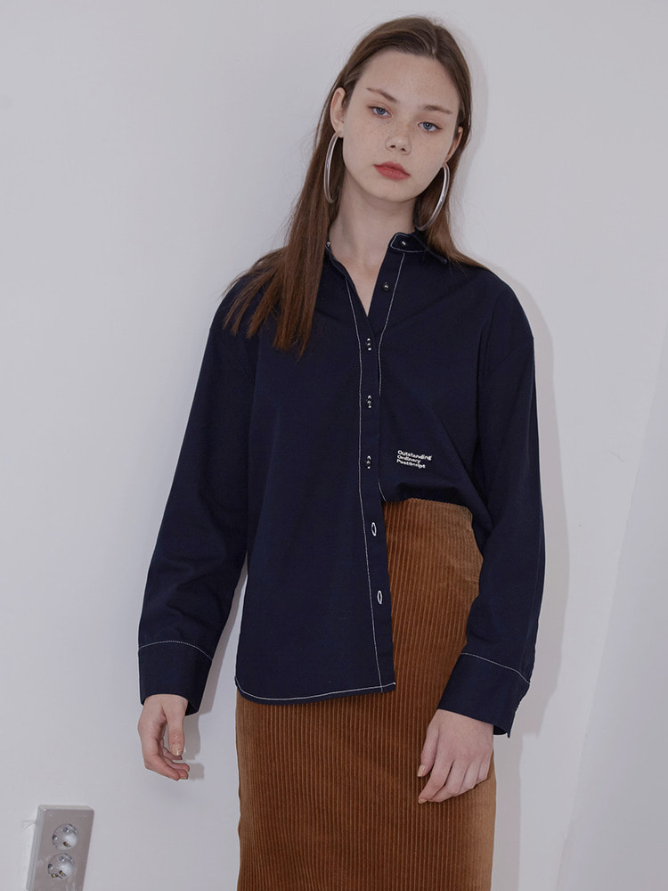 sunday stitch shirt_navy