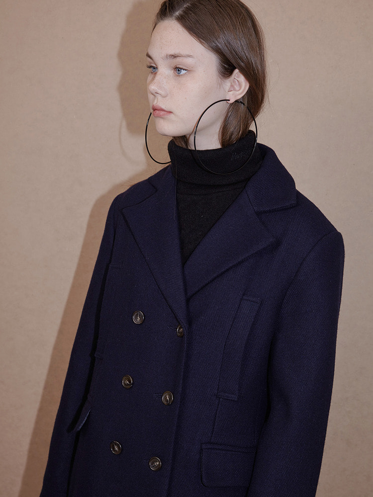 DIDION LONG COAT_NAVY