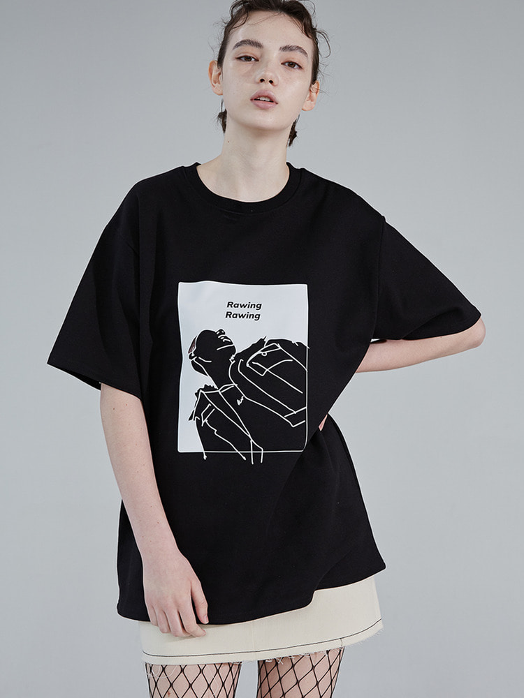 LOOK UP TEE_black