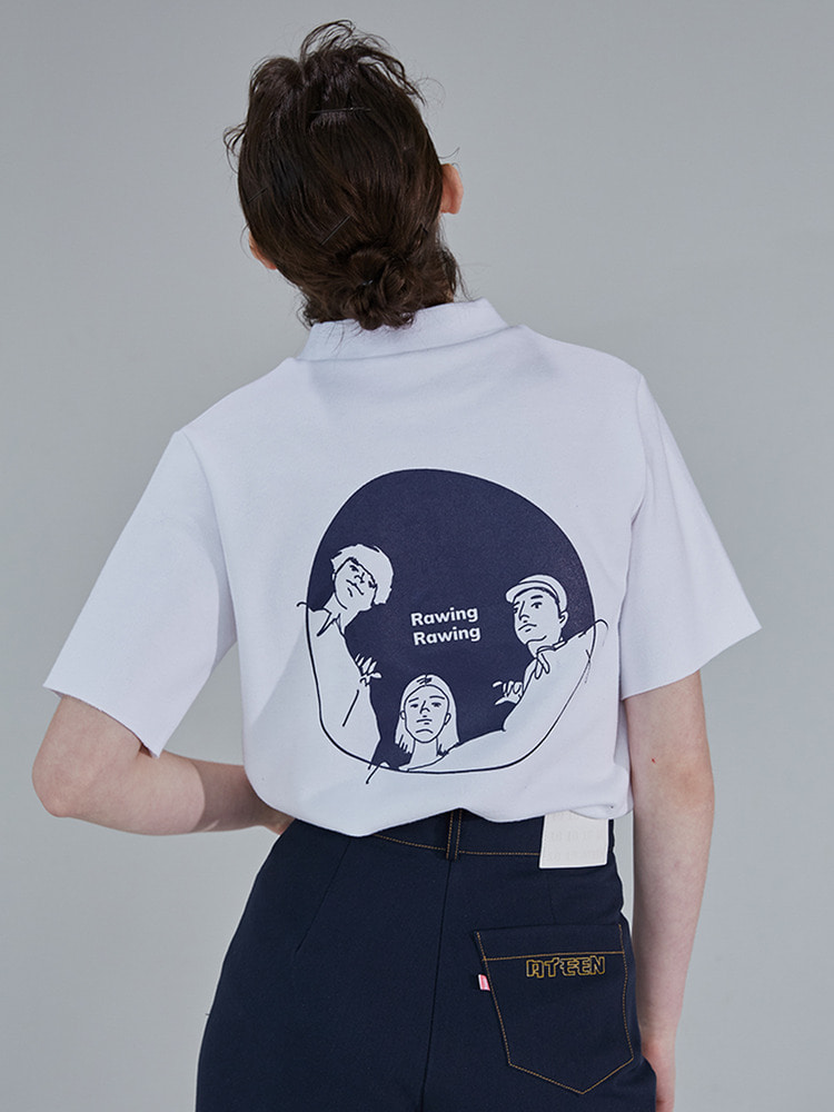 RAWING GRAPHIC TOP_white