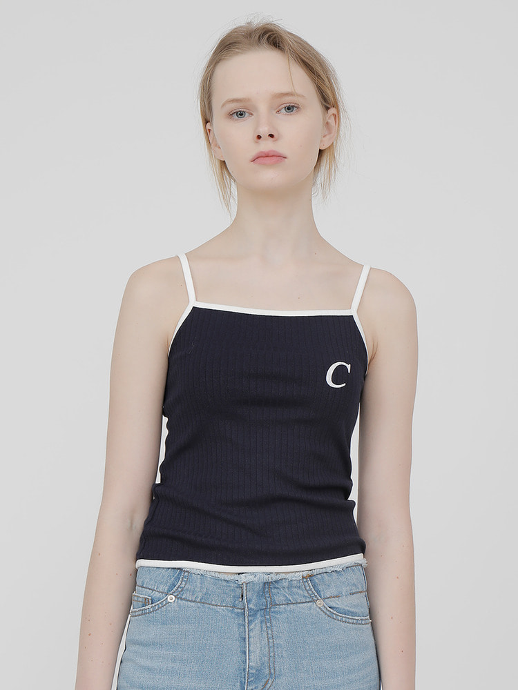 SOCIAL SLEEVELESS_navy