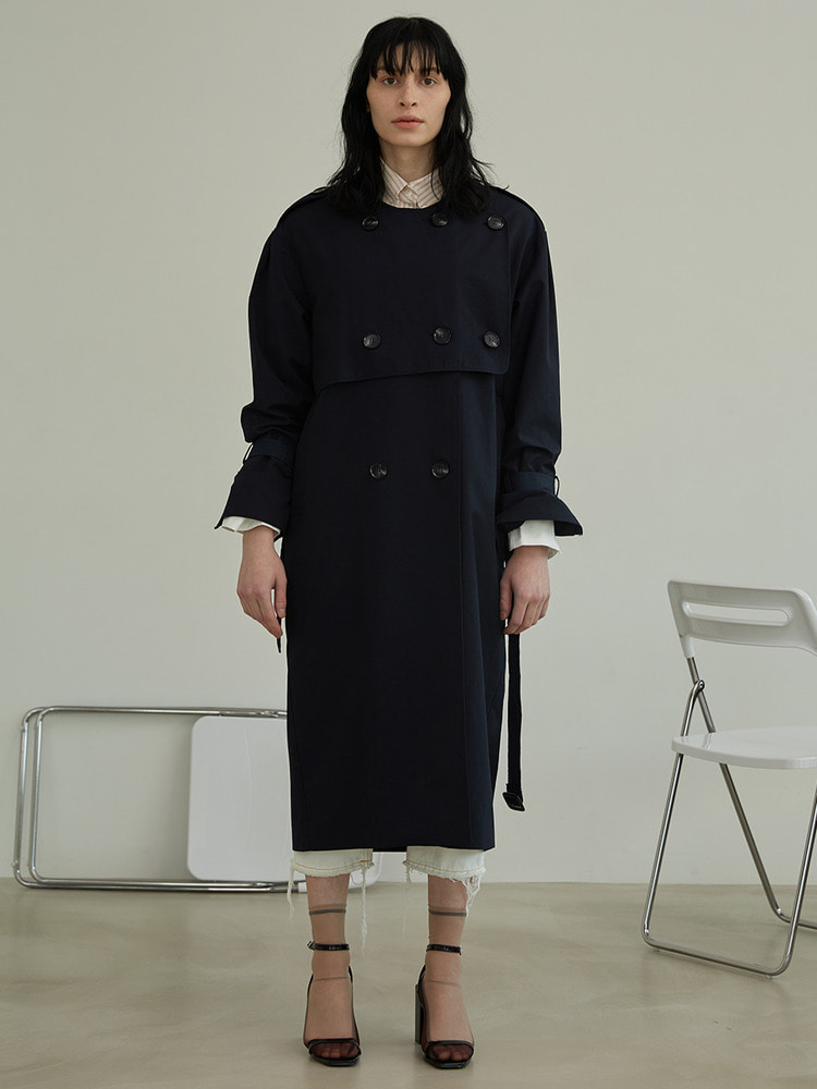 JOUR TRENCH COAT_navy