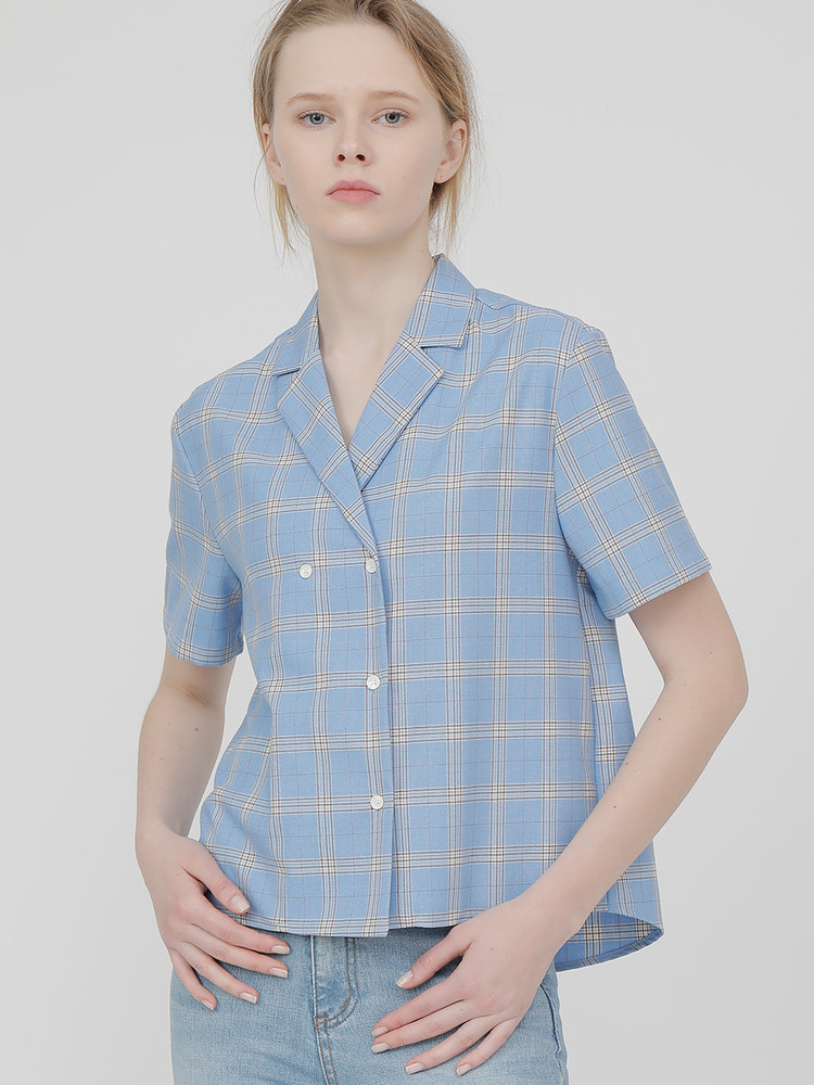 CONCEPT SHIRT_blue check