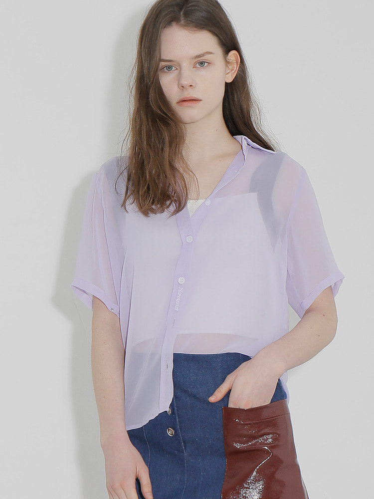 TRIGGER SHEER SHIRT_light purple