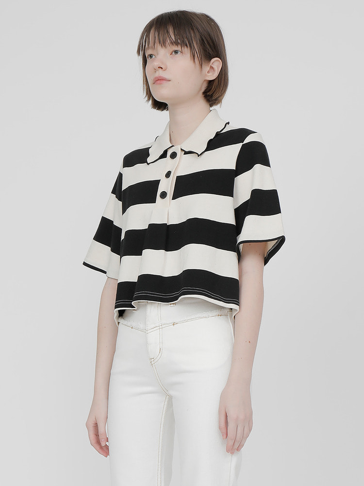 MEANDER POLO SHIRT_black