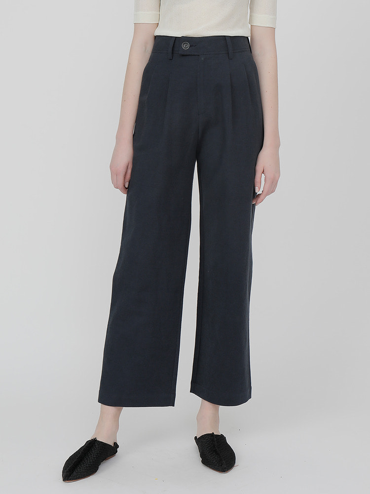 LILY WIDE PANTS_navy