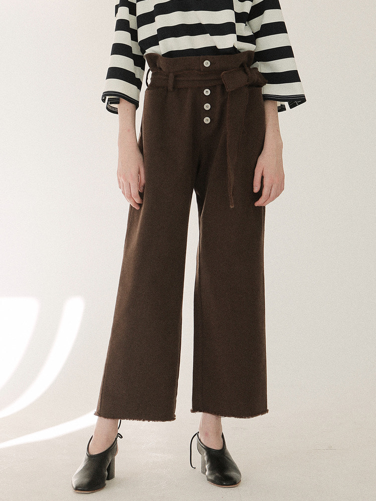 AROUND WIDE PANTS_brown