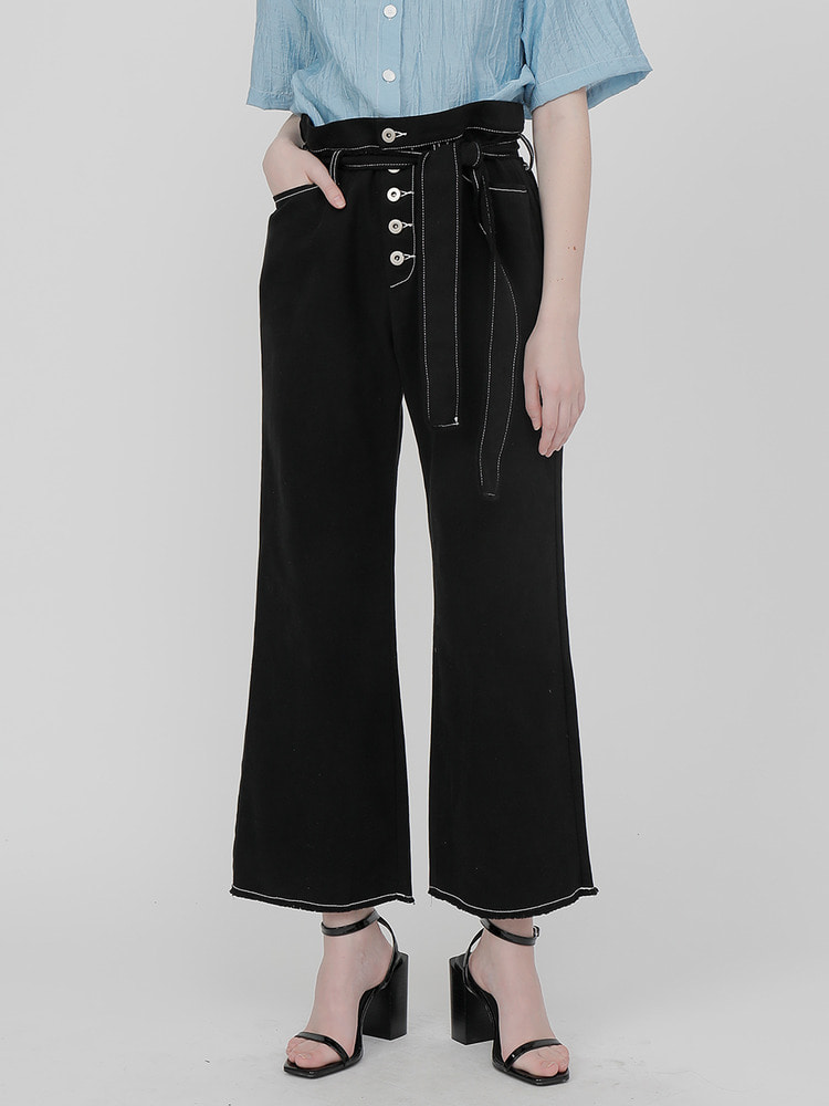 AROUND WIDE PANTS_black