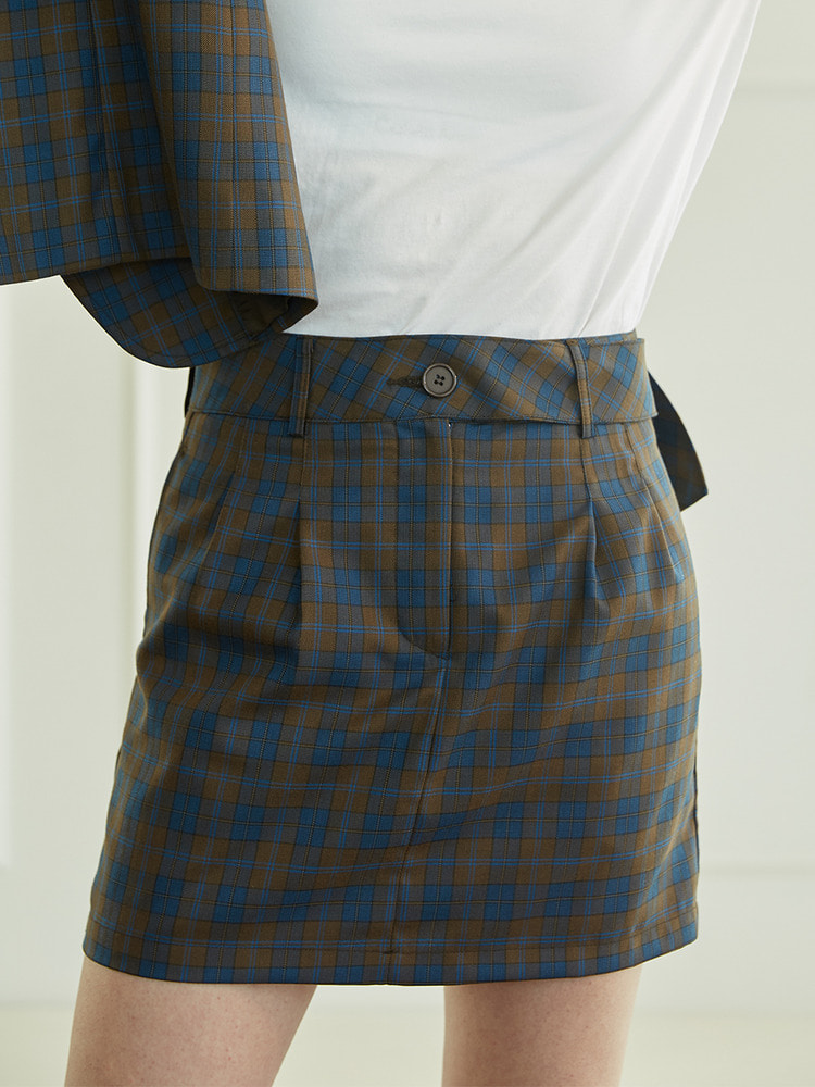 COPPER SKIRT_brown check