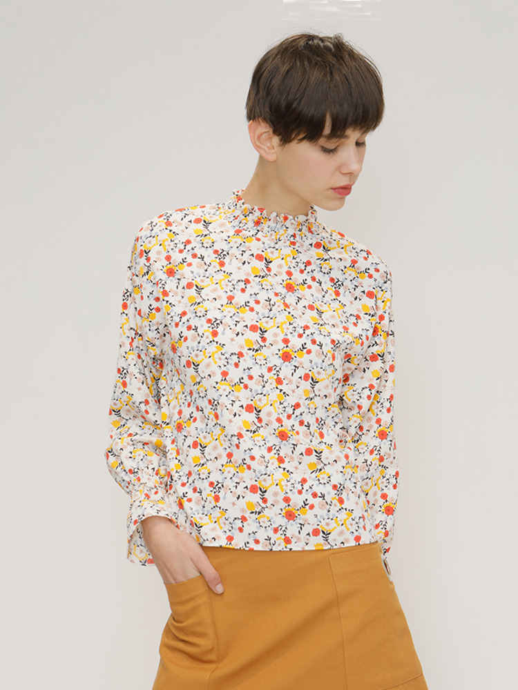 FLORAL SHIRT_IVORY