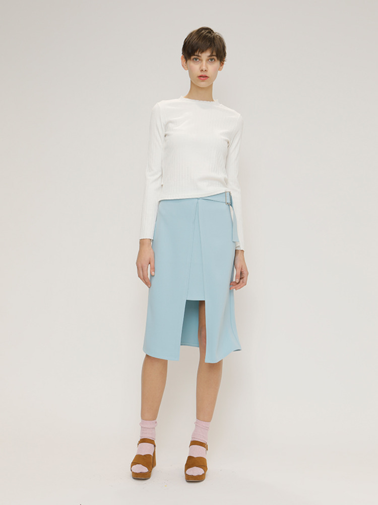 CHANCE MIDI SKIRT_SKY BLUE