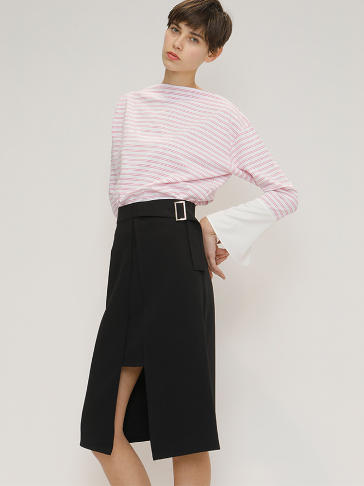 CHANCE MIDI SKIRT_BLACK