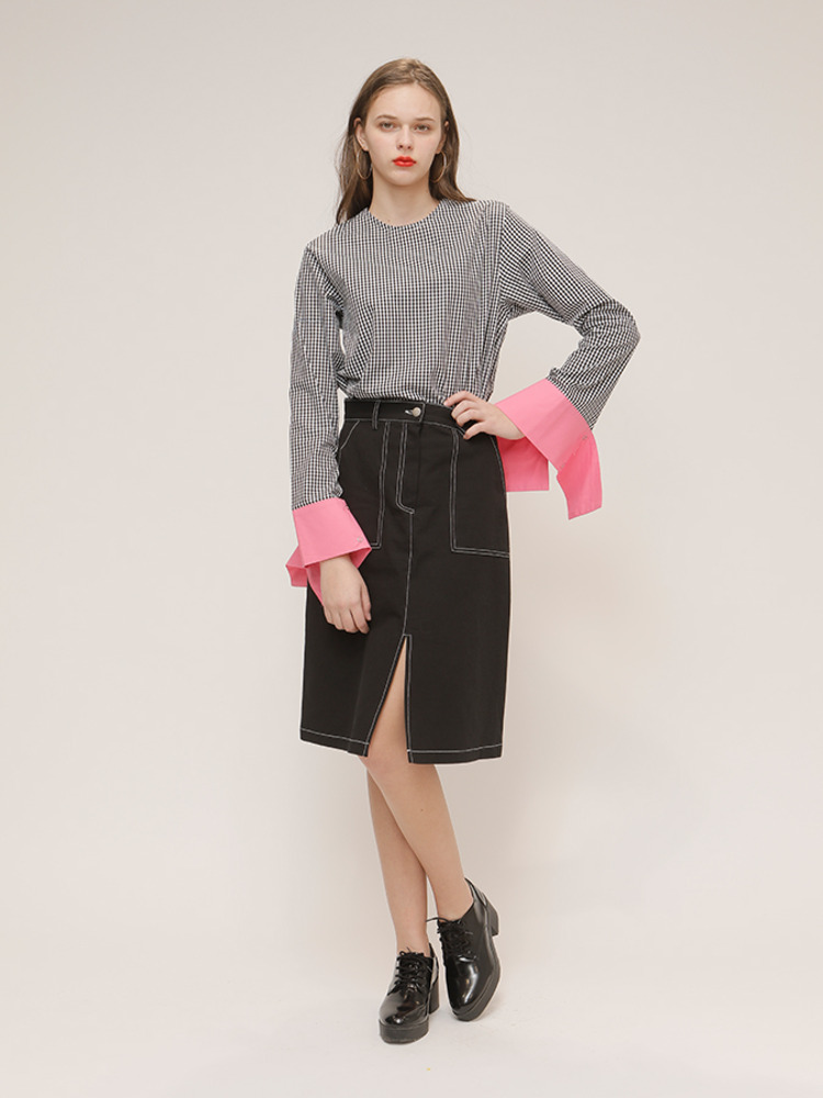 HAZELNUT SKIRT_BLACK