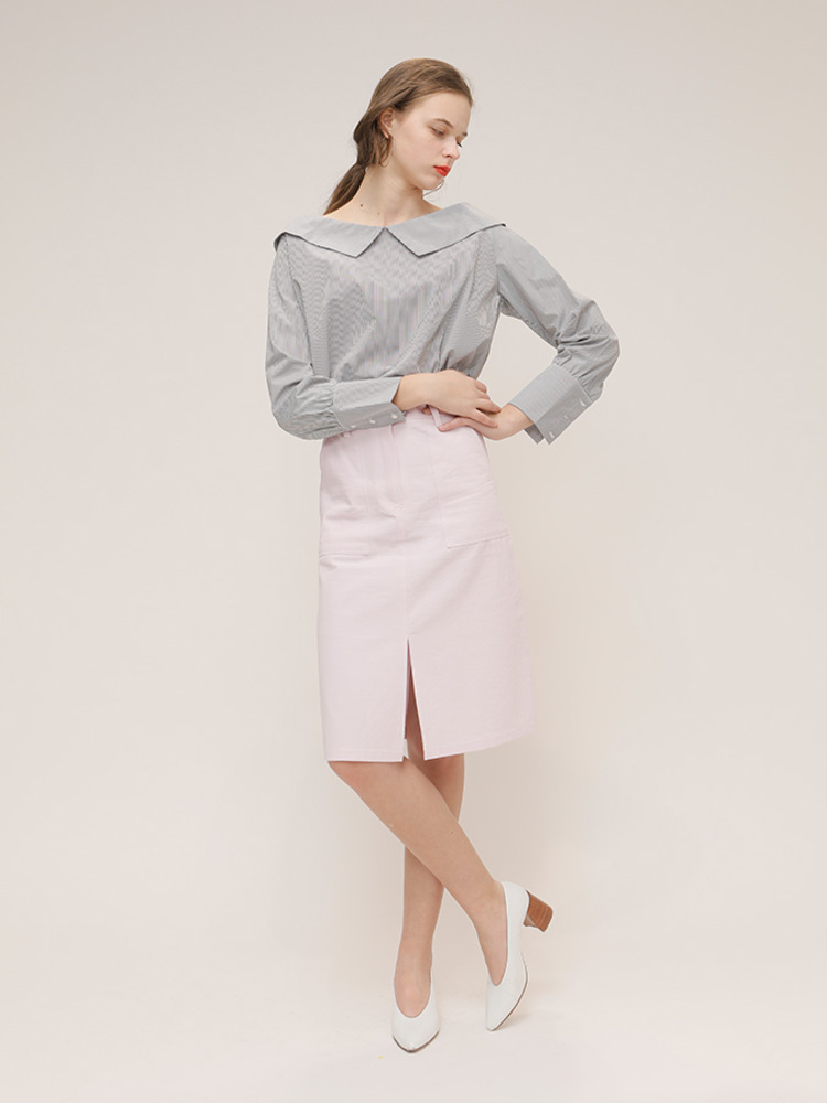 HAZELNUT SKIRT_LIGHT PURPLE