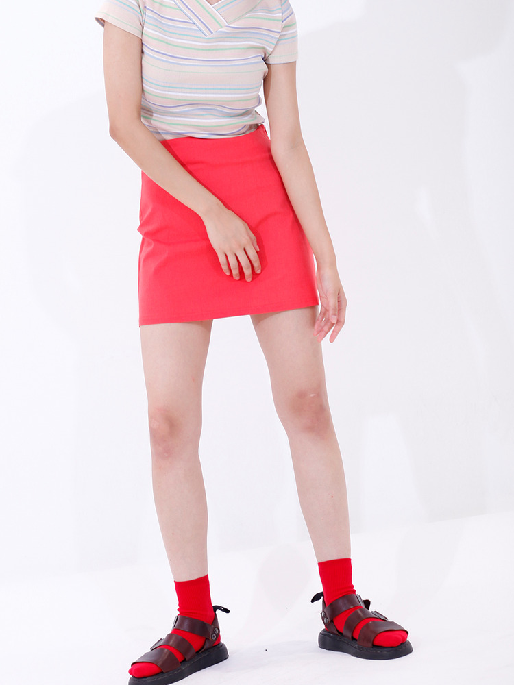 YOLO SKIRT_RED