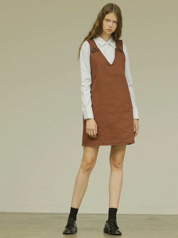 PAINTER DRESS_brown