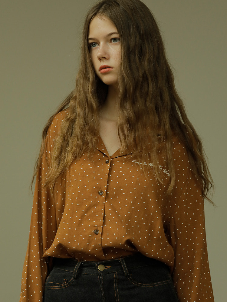 LETTER BLOUSE_brown