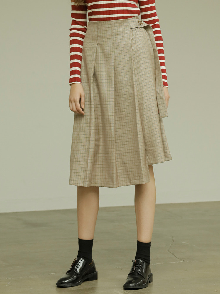 SOHO SKIRT_beige check