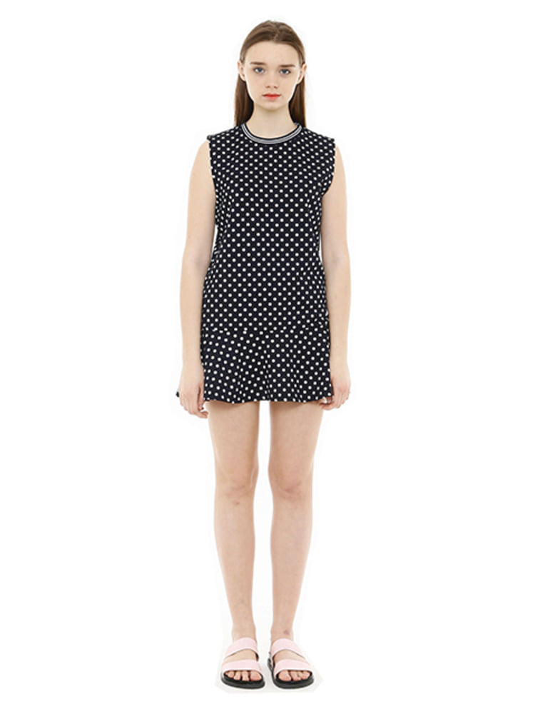 DOT DRESS_NAVY