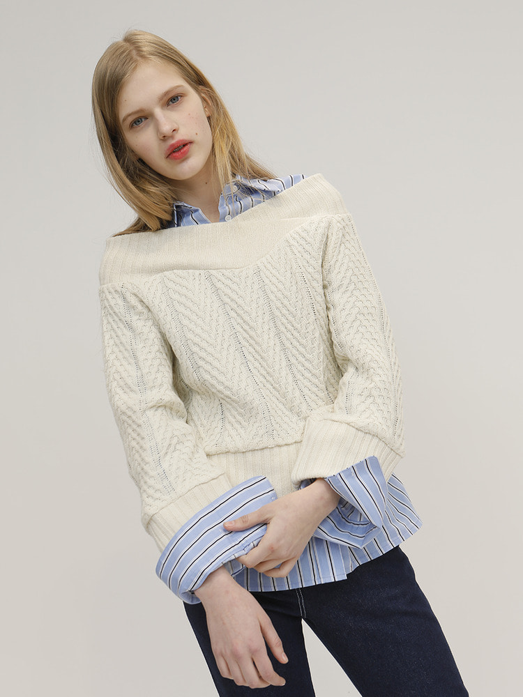 ONE KNIT PULLOVER_IVORY