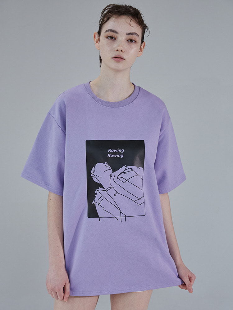 LOOK UP TEE_light purple