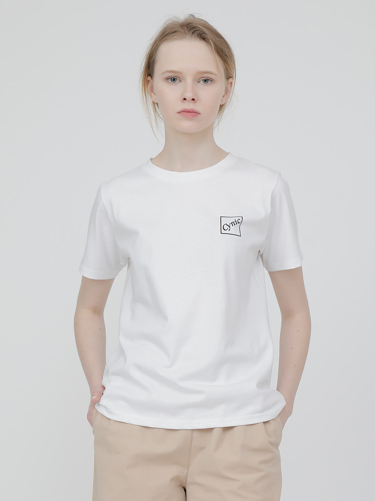 BOX CLEAN TEE_white