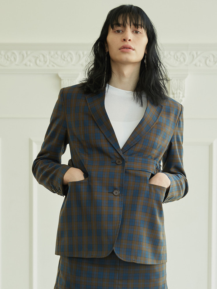LITHUME JACKET_brown check