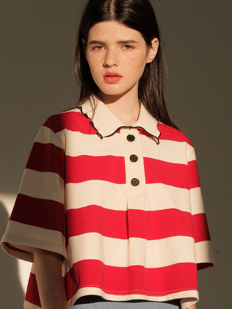 MEANDER POLO SHIRT_red