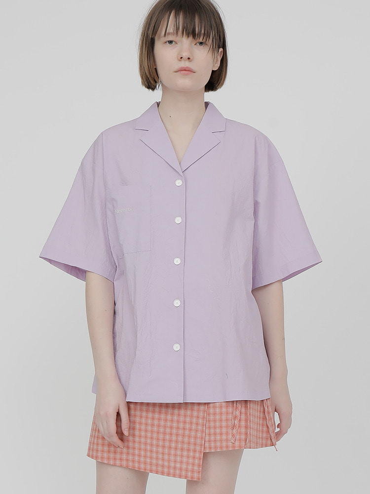 RADIO SQUARE SHIRT_light purple