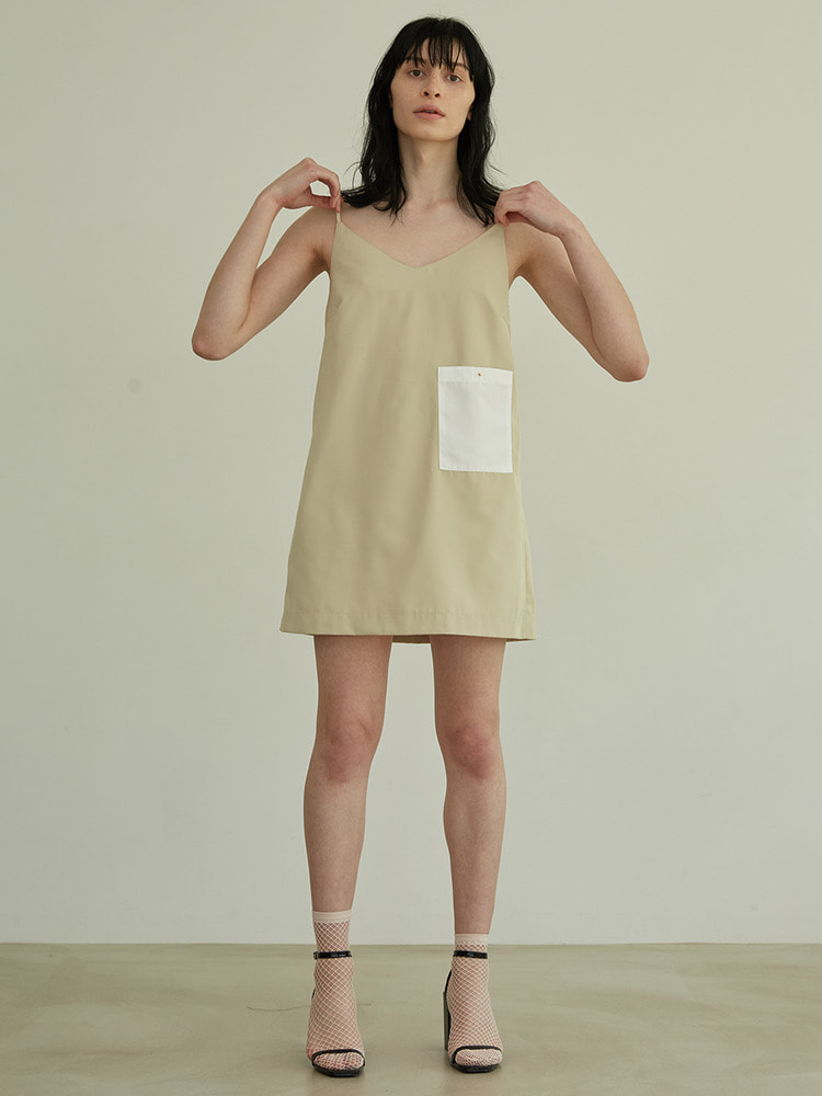 LIST SLIP DRESS_beige