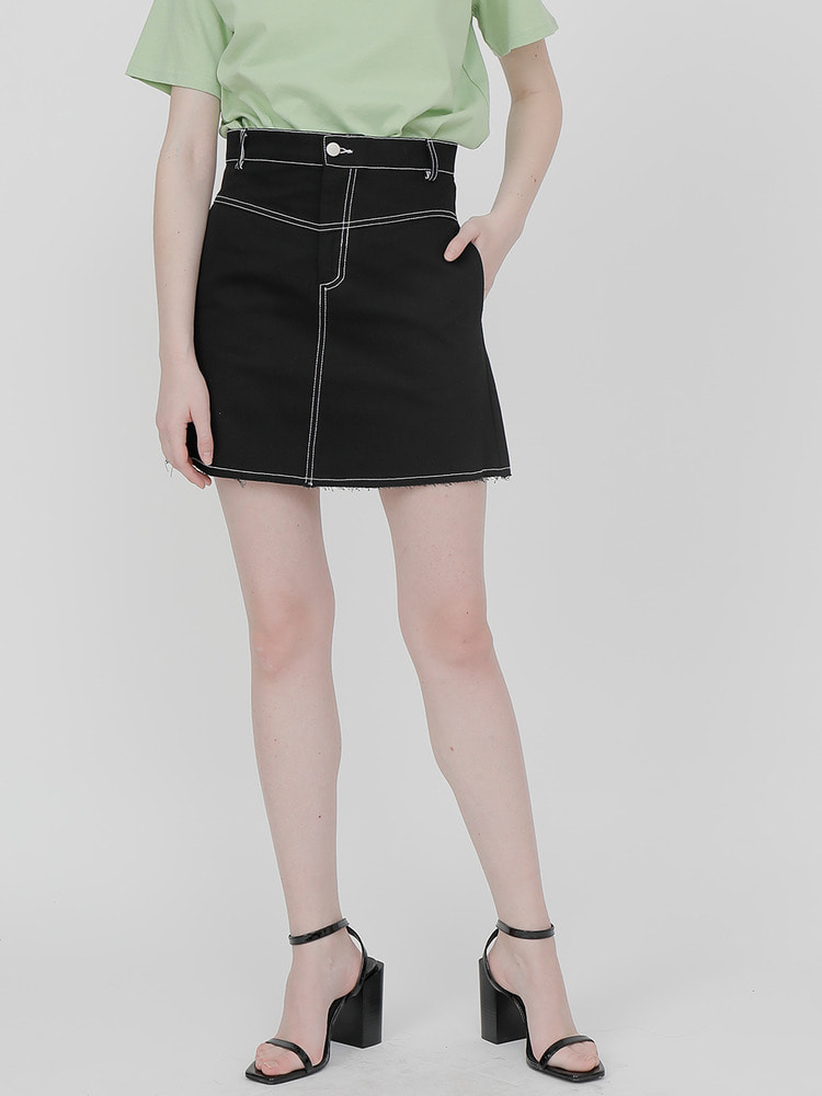 STATE MINI SKIRT_black
