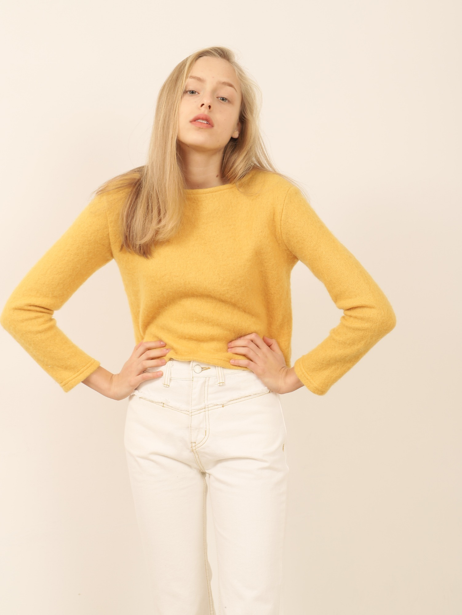 JULIA BOAT NECK CROPPED JUMPER