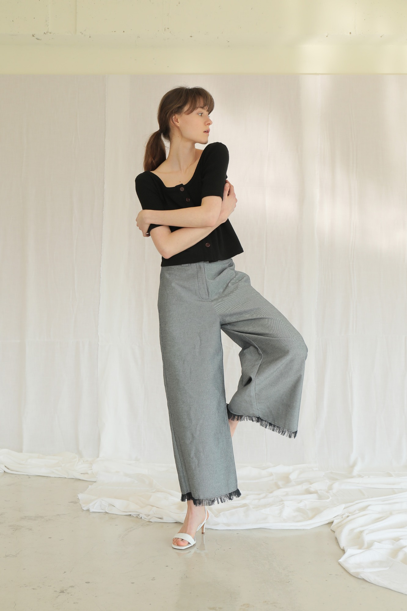 산책 바지 SANCHAEK WIDE PANTS