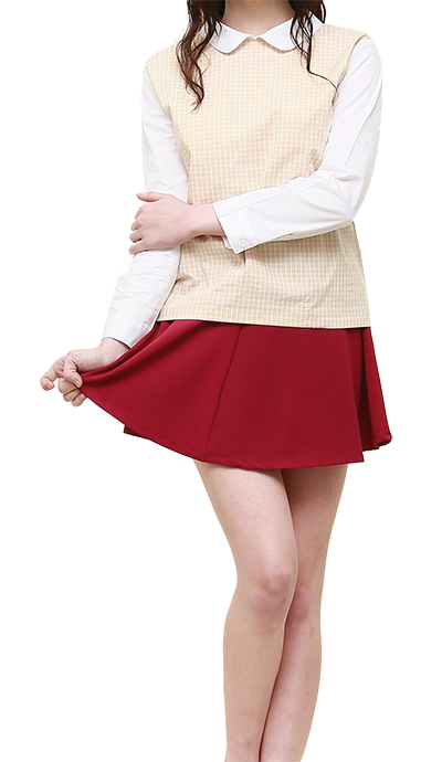 BALL SKIRT - D/RED